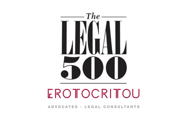 The Legal 500: Recognition of A.G. Erotocritou LLC as leading firm in Cyprus for 2019